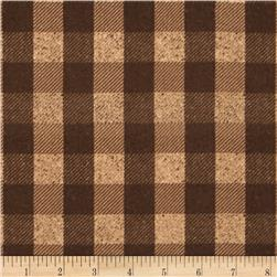 Penny Rose Menswear Flannel  Check Brown