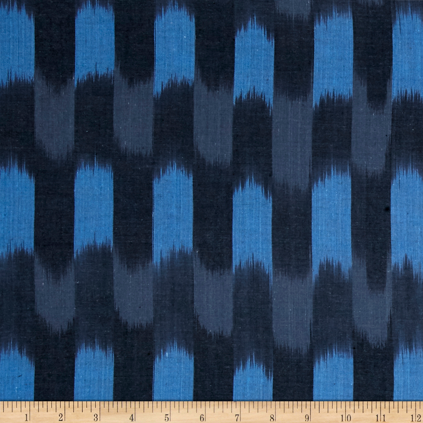 Andover Dream Weaves Ikat Patch Navy Fabric by Andover & Makower in USA