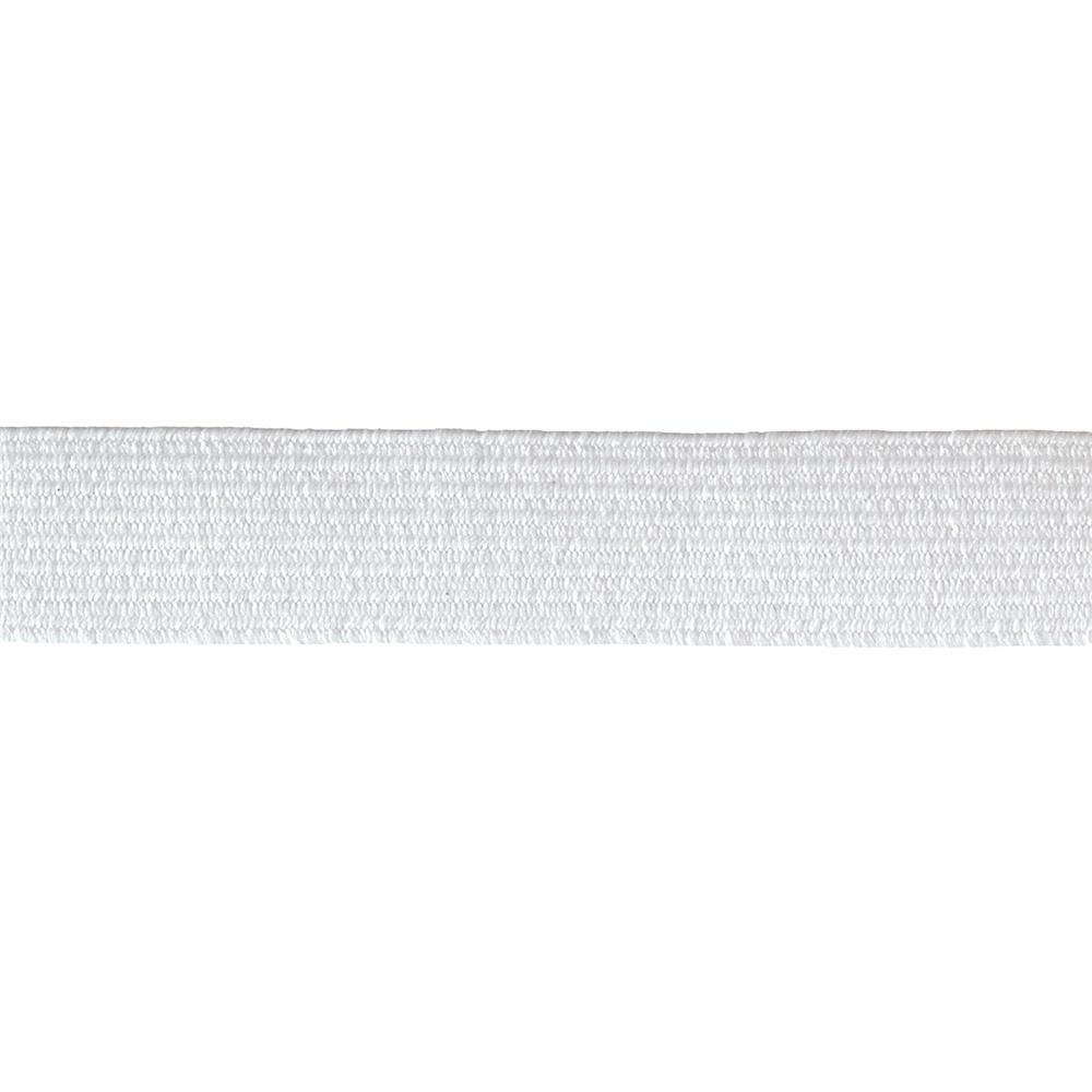 "1/2"" x 4-1/2yds. Washable Polyester Elastic White"