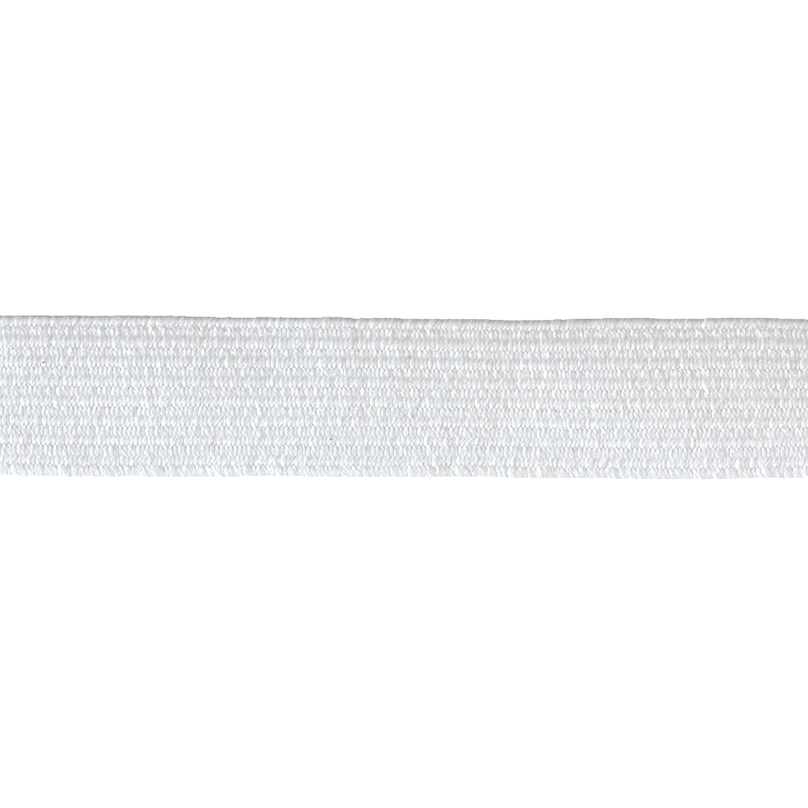 1/2'' x 4-1/2yds. Washable Polyester Elastic White