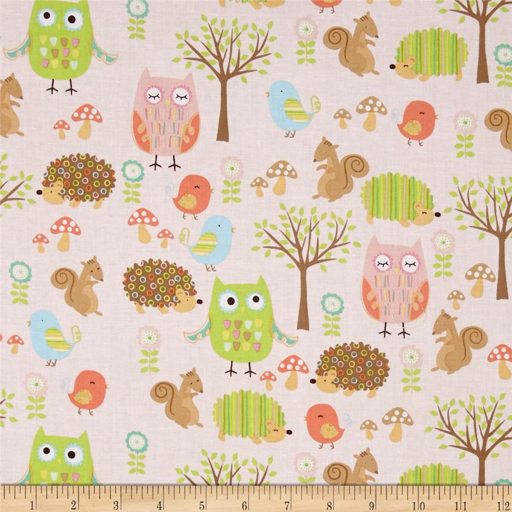 Riley Blake Owl & Co. Owl Friend Pink