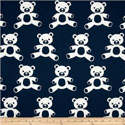 Premier Prints Teddy Twill Premier Navy/White