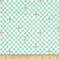 Going Steady Checkerboard Hearts Mint