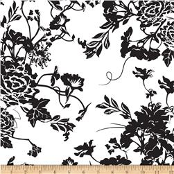 Riley Blake RoseCliff Manor Large Floral White Fabric
