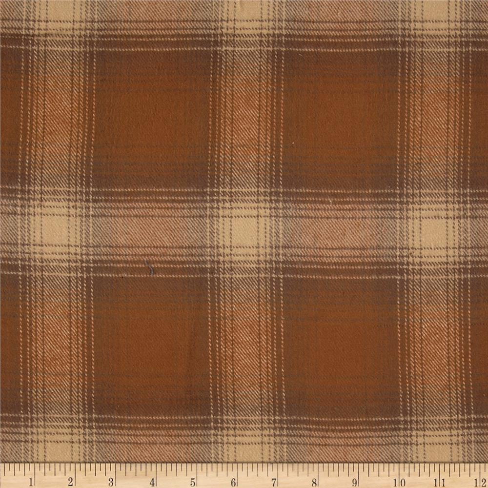 Primo Plaids V Flannel Large Plaid Brown Fabric By The Yard