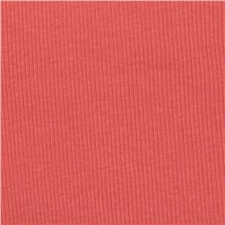 Cotton Rib Knit Solid Coral