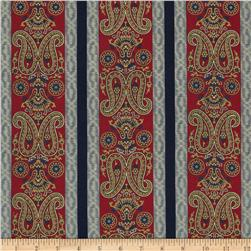Border Companions Americana Paisley Red/Blue