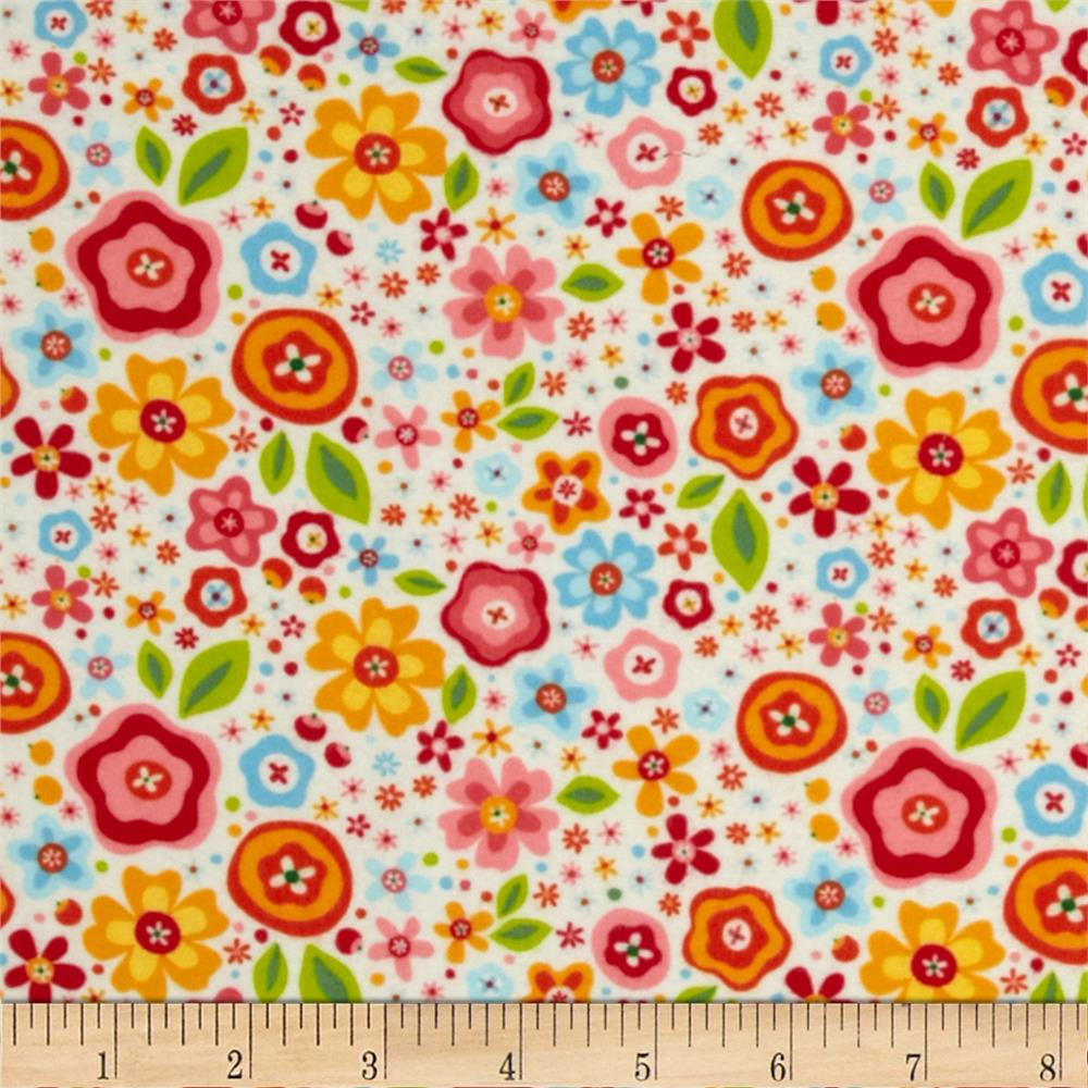 Riley Blake Flannel My Sunshine Large Floral Cream