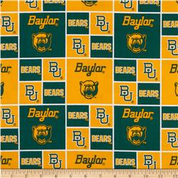 Collegiate Cotton Broadcloth Baylor University Yellow Fabric