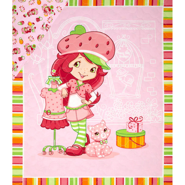 Strawberry Shortcake Double Sided Quilted Shopping Pink