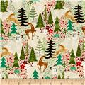 Moda Berry Merry Reindeer Games Cream