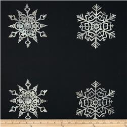 Bali Batiks Snowflake Panel Black Fabric