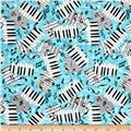 Encore Piano Keys & Notes Aqua