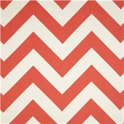 Premier Prints Zippy Chevron Coral Fabric