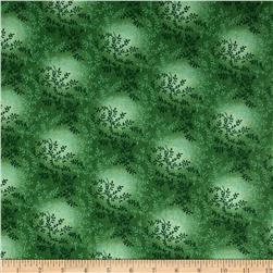 "108"" Wide Quilt Back Tonal Vineyard Forest Green"