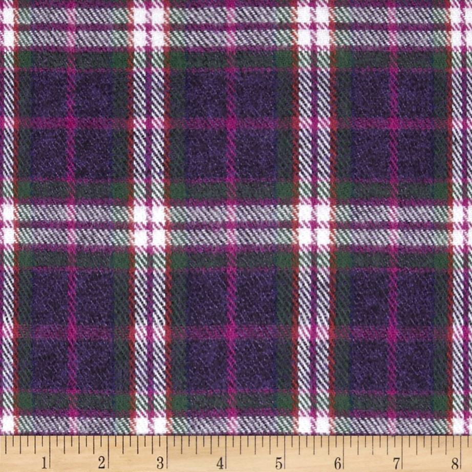 6 oz. Flannel Plaid Plum/Pink/White