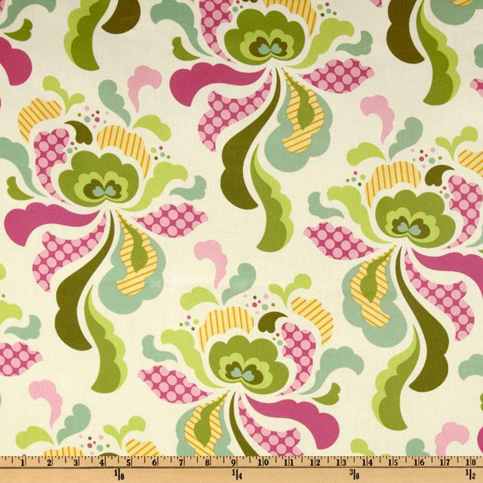 Heather Bailey Freshcut Laminated Cotton Groovy Olive