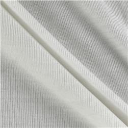 Rayon Cotton Baby Rib Knit Ivory Fabric
