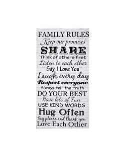 Timeless Treasures 24'' Family Rules Panel Dove
