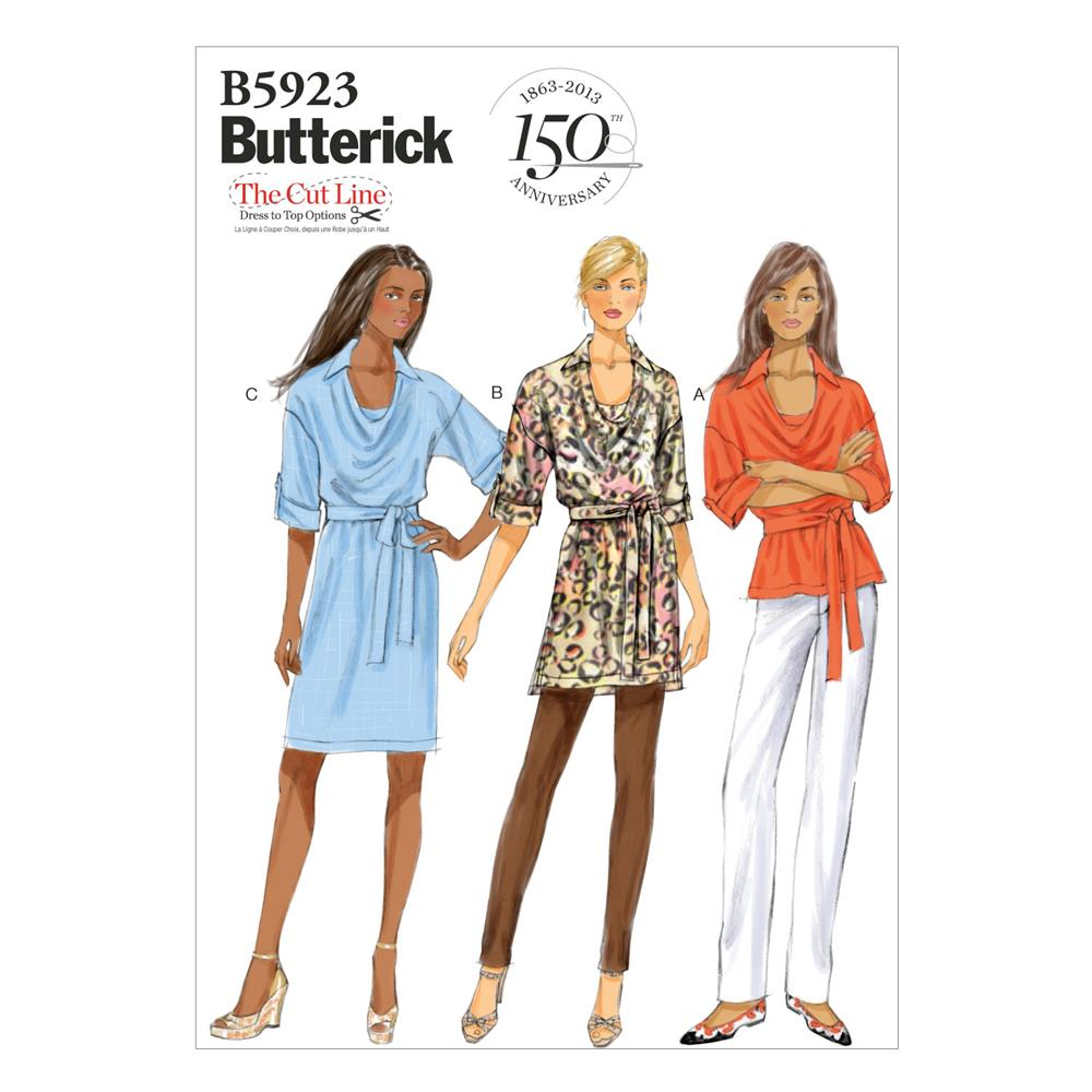 Butterick Misses' Top, Tunic, Dress and Belt Pattern B5923 Size 0Y0