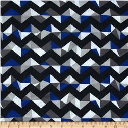 Fashionista Jersey Knit Geo Chevron Blue