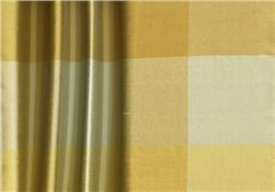 Dupioni Silk 3.75'' Check Silver/Gold