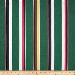 Kaufman Serape Stripes Deluxe Cotton Green Fabric