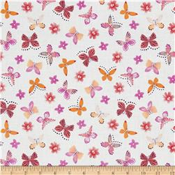 Painted Wings Mini Butterflies White