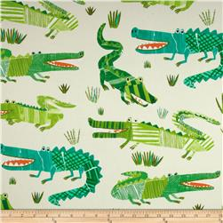 P Kaufmann Croc Rock Twill Jungle Fabric