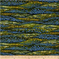 Moda Wildflowers VI Rolling Meadows Blue/Yellow