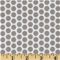 Riley Blake Honeycomb Reversed Dot White/Gray