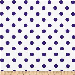 Polka Dots Purple Fabric