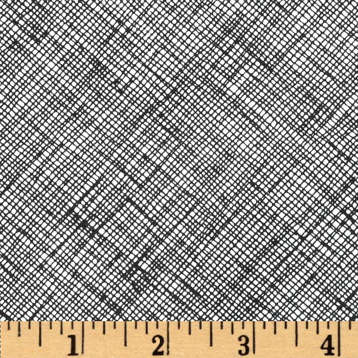 Architextures Grid Plaid Black