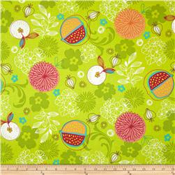 Cucina Fresco Allover Fruit Lime Fabric