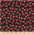 Enchanted Grove Small Poppies Black