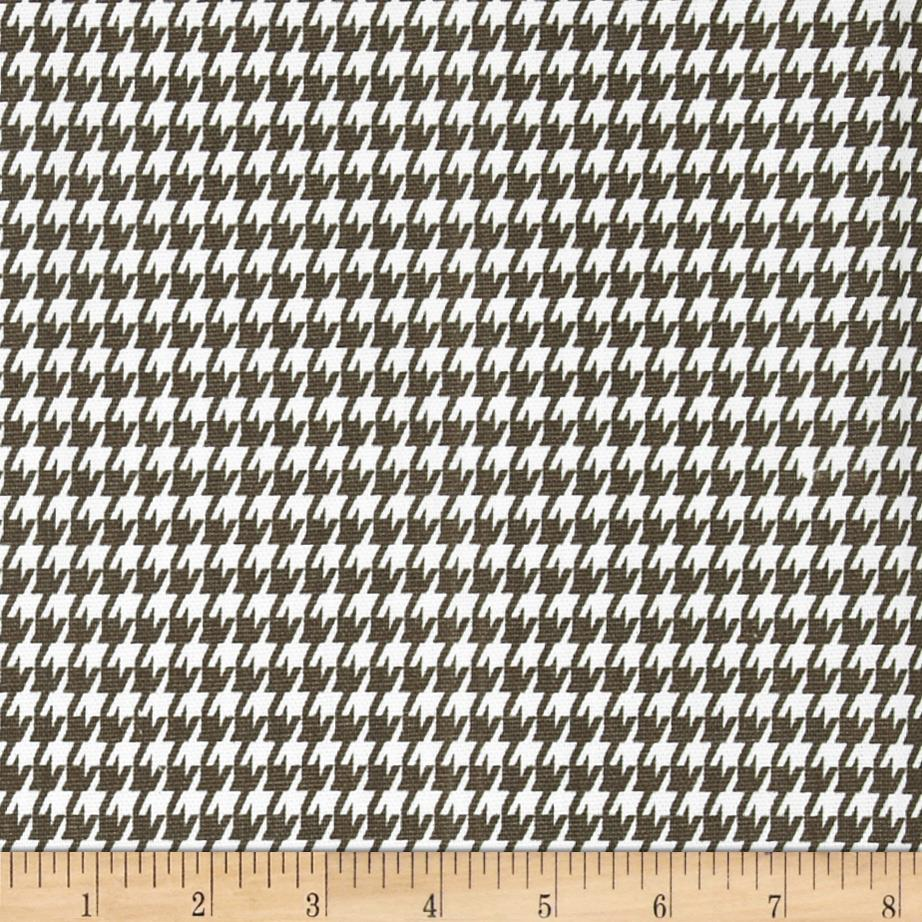 Premier Prints Houndstooth Italian Brown/White