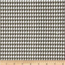 Premier Prints Houndstooth Italian Brown/White Fabric