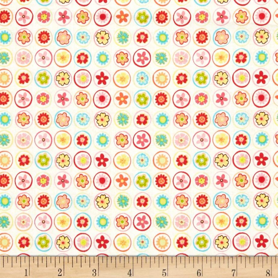 Riley Blake Happy Flappers Circles Cream