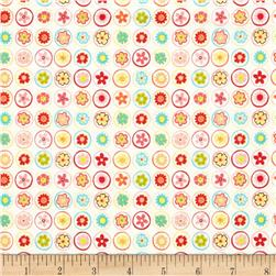 Riley Blake Happy Flappers Circles Cream Fabric