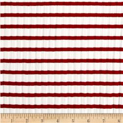 Telio Nautique Rib Knit Stripe Red