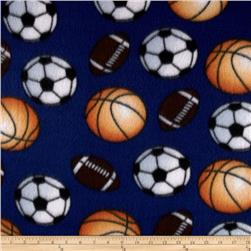 Fleece Balls Multi Blue