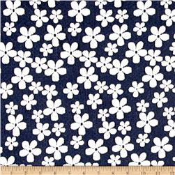 Jacquard Knit Daisy Navy/White