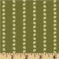 Summer's Retreat Floral Lei Green Fabric