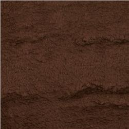Whisper Coral Fleece Solid Brown Fabric