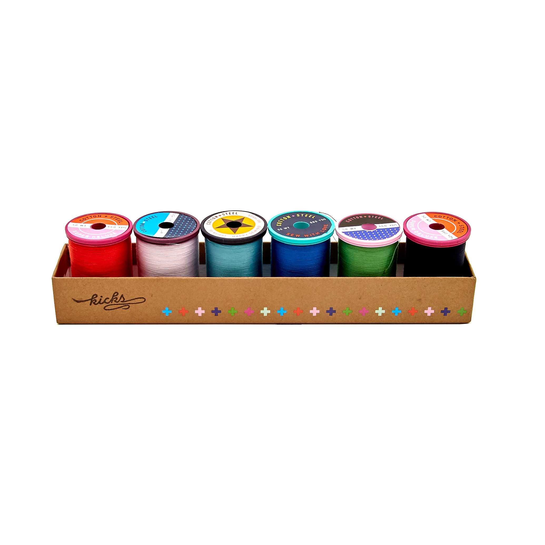 Image of Cotton + Steel 50wt. Cotton Thread Set by Sulky Kicks Collection