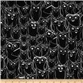 Nite Owls Sketched Owls Black/White
