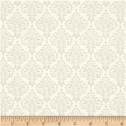 Moda Bee Inspired Monatone Damask Laurel White