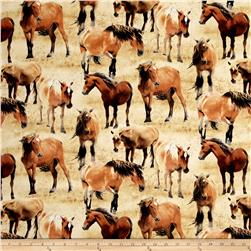 Greener Pastures Horses Allover Tan