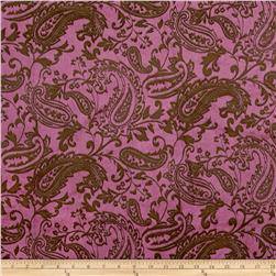 Minky Posh Cuddle Embossed Paisley Brown/Dusty Pink