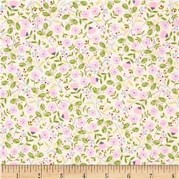 Garden Party Small Floral Pink Fabric